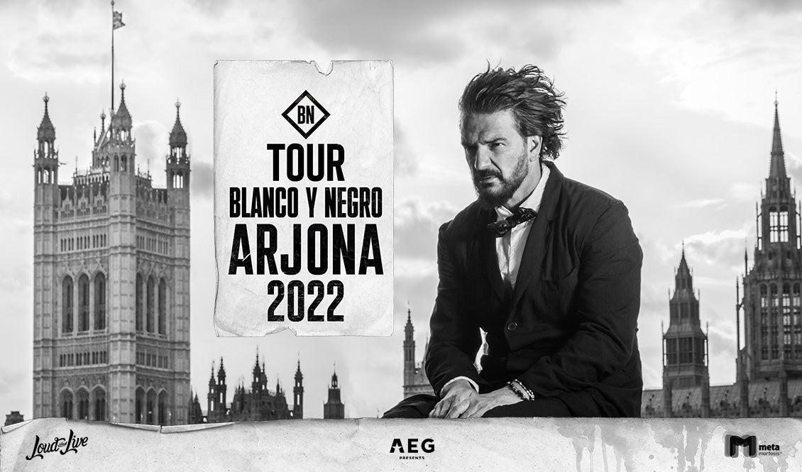 Tour Blacno Y Negro. Arjona 2022