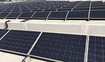 solar panels on staples center roof